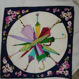 "NWOT Talbots silk umbrella scarf 21 x 21"""